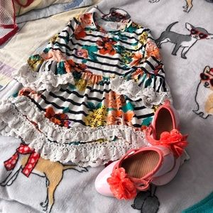 Dress set shoes size 9 girls dress size 3